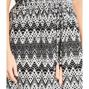 City Chic Dresses - Mono Print Maxi Dress